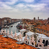 View of the Grand Canal from the roof of the Fondaco dei Tedeschi, Venice