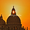 Sunset through the cupola of Santa Maria della Salute