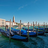 Gondolas outside the Punta della Dogana, Venice