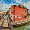 Fisheye perspective of Burano