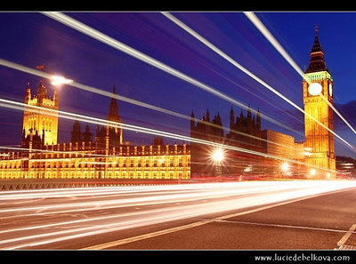 UK - England - London - Dusk over The Palace of Westminster, the Clock Tower - Big Ben and Westminster Bridge   Camera Model: Canon EOS 5D Mark II; Lens: 28.00 - 300.00 mm; Focal length: 39.00 mm; Aperture: 14; Exposure time: 32.0 s; ISO: 100