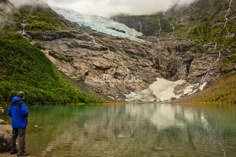 At the base of the Bøyerbreen Glacier near Fjærland