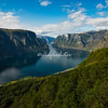 Aurlandsfjord  from Stegastin Viewpoint, Aurland, Norway