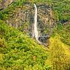 Brekkefossen Waterfall near Flåm