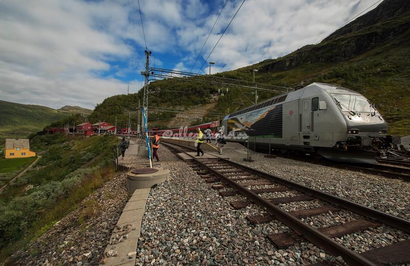Train station in Myrdal, Norway