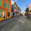 Colorful Buildings, bars, restaurants and houses, Øvre Holmegate, Stavanger, Norway
