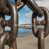 Looking through an anchor chain, Stavanger, Norway