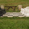 An outdoor chess set, near Trondheim, Norway