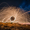 Spinning around burning steel wool...FUN TIME!!