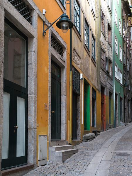 Houses along a street, Ribeira De Pena, Porto, Portugal