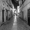 Houses along street in a town, Obidos, Leiria District, Portugal