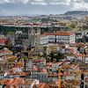 Aerial view of buildings in a city, Vitoria, Porto, Portugal
