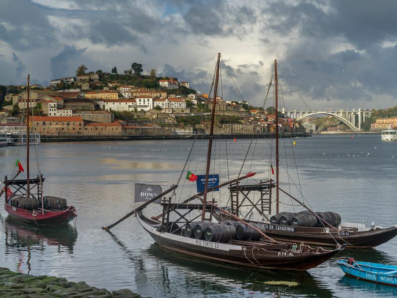 Boats in Douro River, Porto, Portugal