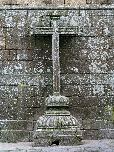 Close-up of cross sculpture, Lamego Municipality, Viseu District, Northern Portugal, Portugal