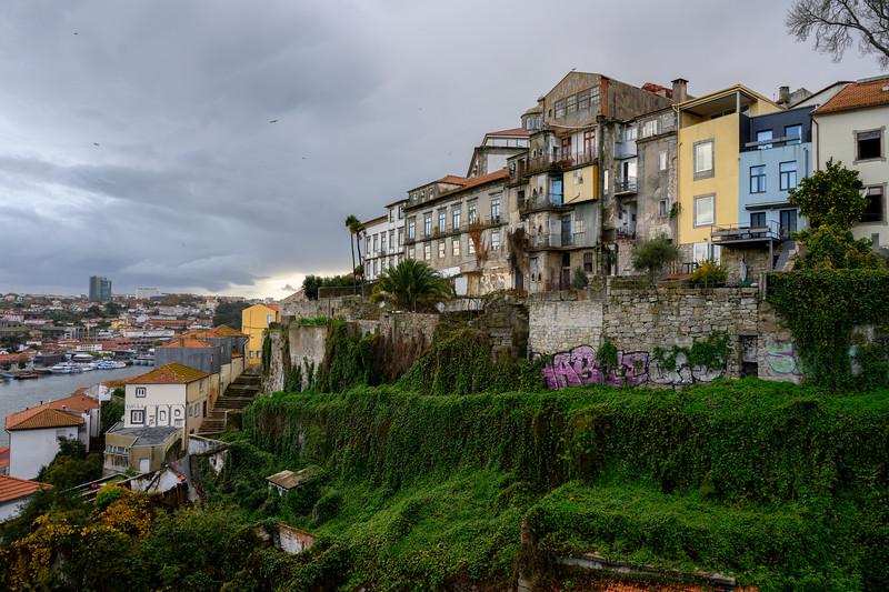 Buildings on a hillside in Se do Porto, Porto, Northern Portugal, Portugal