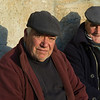 Portraits of two elderly men sitting together, Salzedas, Tarouca, Douro Valley, Viseu District, Portugal