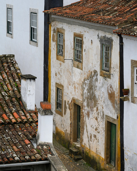 Houses in a town, Obidos, Leiria District, Portugal