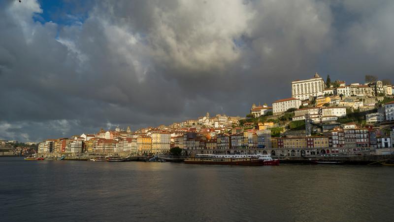City  along the waterfront, Douro River, Porto, Portugal