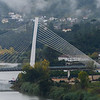 Cable-Stayed bridge across Mondego River, Ponte Rainha Santa Isabel, Combra, Coimbra District, Portugal