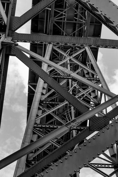 Low angle view of bridge, Dom Luis I Bridge, Porto, Portugal