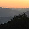 Silhouette of wind turbines on a hill, Tarouca, Viseu District, Douro Valley, Portugal