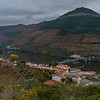 Town along riverbank, Douro River, Douro Valley, Portugal
