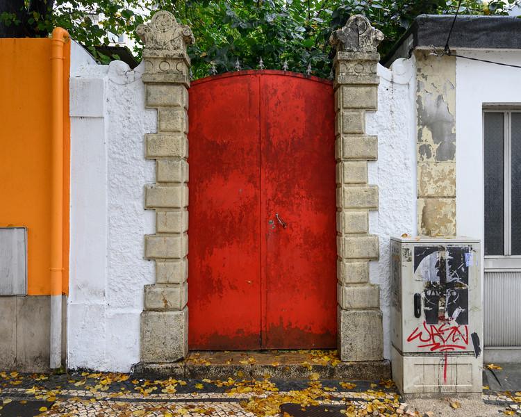 Entrance of a garden, Coimbra, Portugal