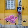Painted wall, Bairro Alto, Santa Catarina, Lisbon, Portugal