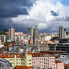 Elevated view of buildings in Vitoria, Porto, Portugal