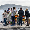 Tourists at juice stall, Santa Maria de Belem, Lisbon, Portugal
