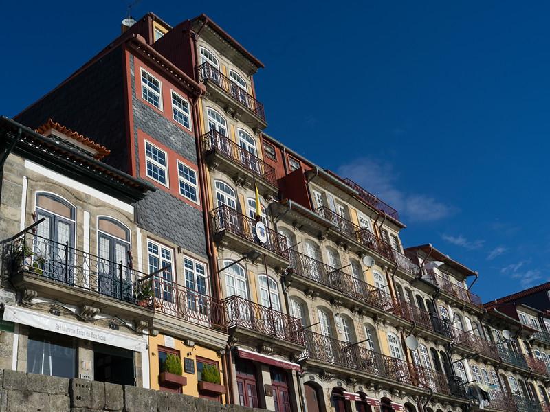 Low angle view of buildings, Ribeira De Pena, Porto, Portugal