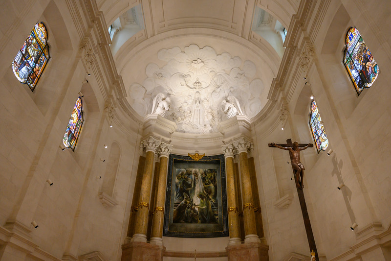 Interiors of Basilica of Our Lady of the Rosary, Fatima, Portugal