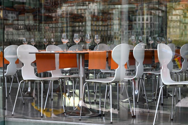 Tables and chairs at a restaurant, Santa Marinha, Ribeira De Pena, Porto, Portugal
