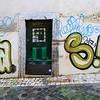 Public art painted on houses, Bairro Alto, Lisbon, Portugal