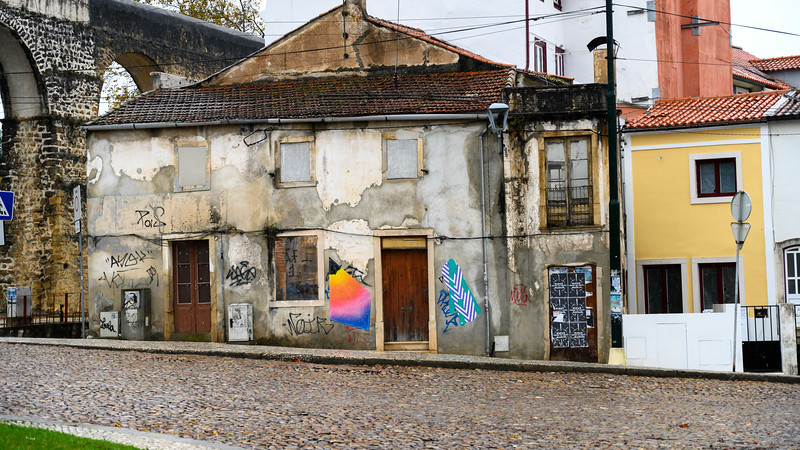 Houses in a town, Coimbra, Portugal