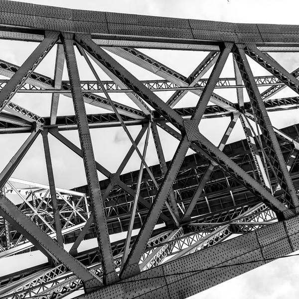 Low angle view of Dom Luis I Bridge, River Douro, Porto, Northern Portugal, Portugal