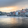 Douro River with Porto Cathedral in the background, Santa Marinha, Porto, Northern Portugal, Portugal