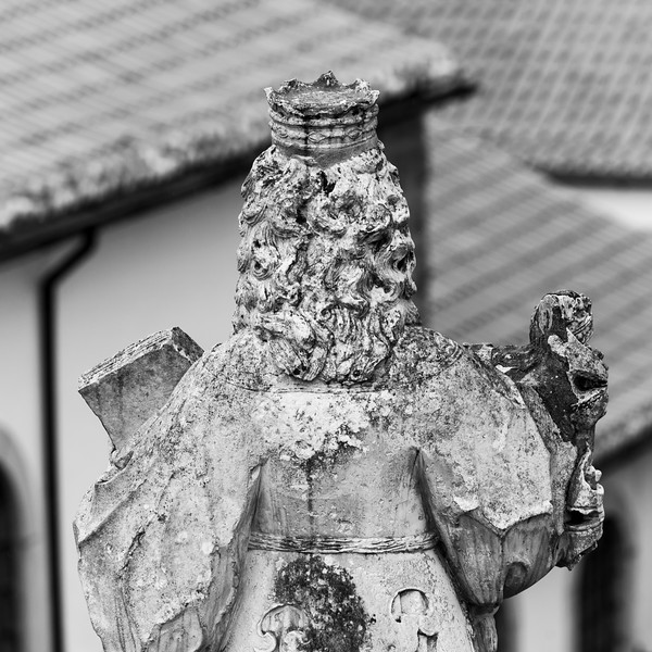 Rear view of a statue, Coimbra, Portugal