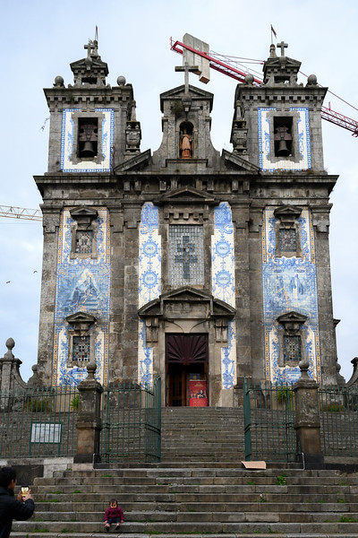 Facade of Church of Saint Ildefonso, Porto, Northern Portugal, Portugal