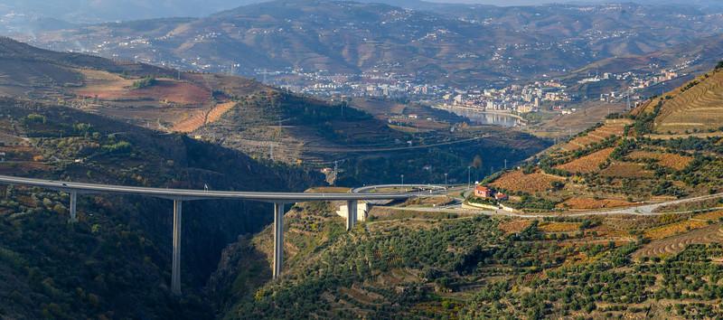 Bridge over a river, Valdigem, Viseu District, Douro Valley, Portugal