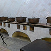 Antique pots in a museum, Sintra National Palace, Sintra, Lisbon, Portugal