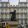 Statue of Antonio Ribeiro, Chiado Square, Lisbon, Portugal