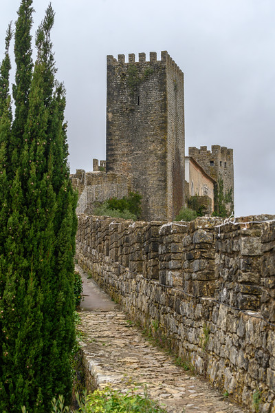 View of Castle of Obidos, Obidos, Leiria District, Portugal
