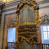 Close-up of pipe organ in Clerigos Church, Vitoria, Porto, Northern Portugal, Portugal