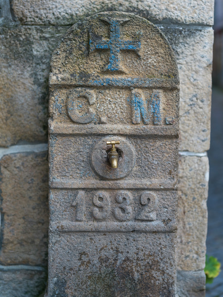Close-up of water faucet, Old Jewish Quarter, Salzedas, Douro Valley, Portugal