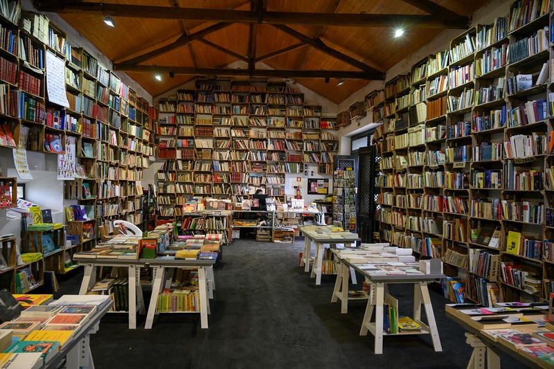 Interiors of a library, Obidos, Leiria District, Portugal