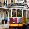 Cable car, Sao Nicolau, Lisbon, Portugal