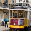 Cable car, Sao Nicolau, Lisbon, Portugal