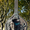 Close-up of guitar statue, Santa Maria de Belem, Lisbon, Setubal District, Portugal