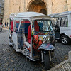 Auto rickshaws, Lisbon Cathedral, Lisbon, Portugal